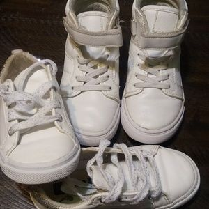 2 pair girl shoes